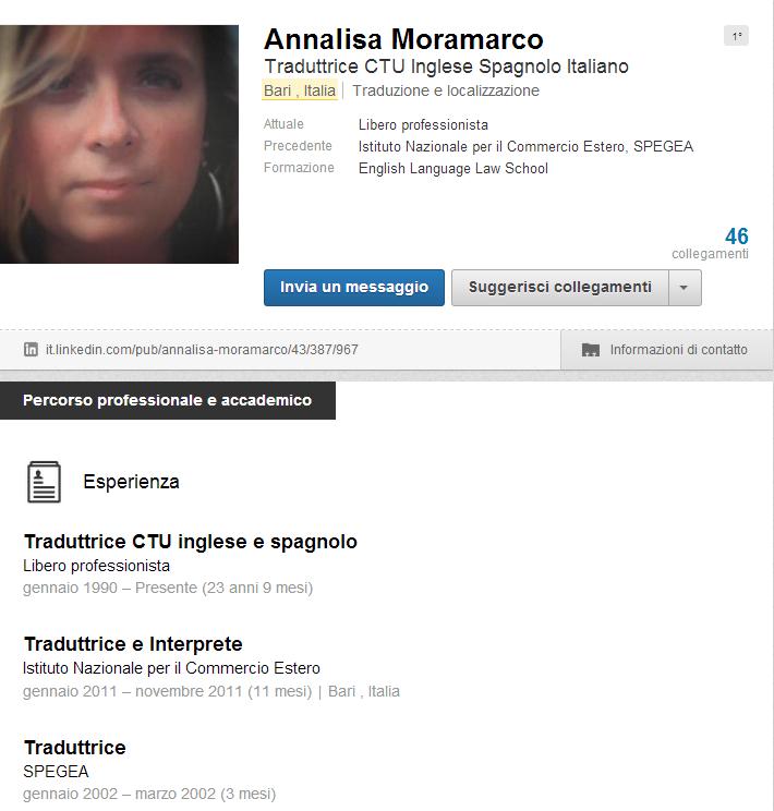 Annalisa Moramarco Linkedin